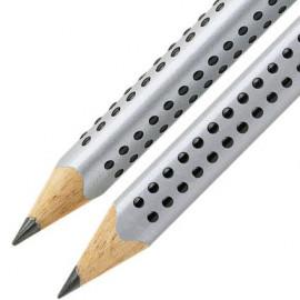 Μολύβι Faber Castell Grip Jumbo Silver