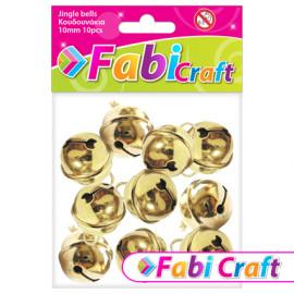 Κουδουνάκια Μεταλλικά Fabi 10mm 10τεμ