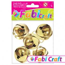 Κουδουνάκια Μεταλλικά Fabi 18mm 5τεμ