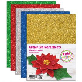 Αφρώδες Μπλοκ Fabi Glitter 20x30 2mm 5φ 5 χρώματα